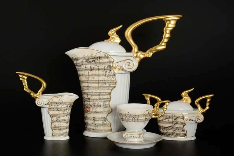 Бетховен Кофейный сервиз мокко Thun на 6 персон 17 предметов