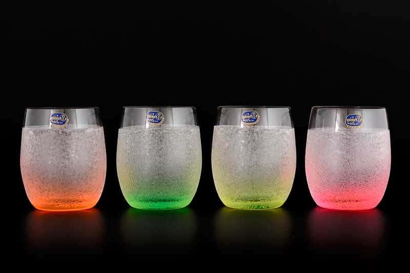 Арлекино Неон Набор стаканов для виски Bohemia Crystal 300 мл (4 шт)