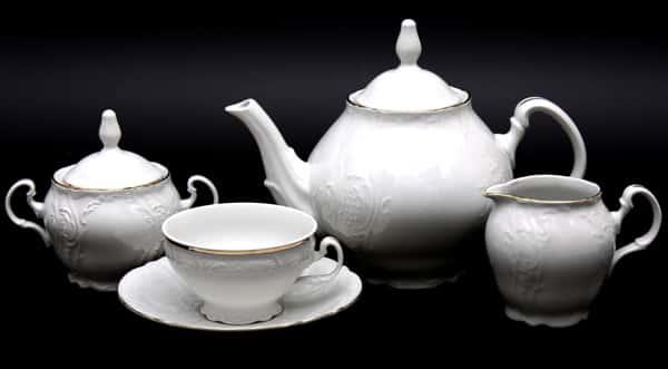 Сервиз чайный 155мл. Бернадот белый 311011 на 6 15 пред