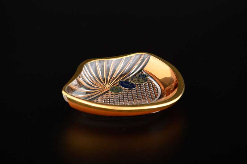 Розетка Ракушка 11 см Sonne Crystal Золото