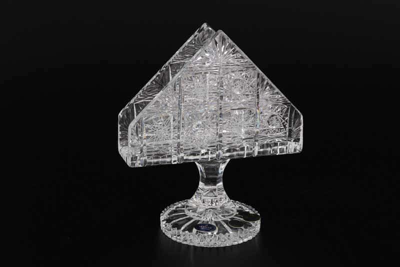 Салфетница 14 см на ножке Sonne Crystal