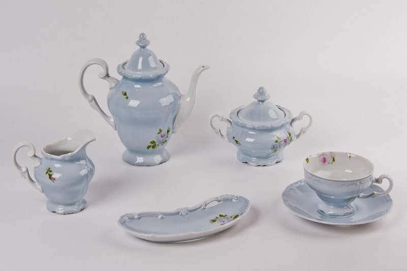 Алвин голубой Чайный сервиз Weimar Porzellan 16 предметов