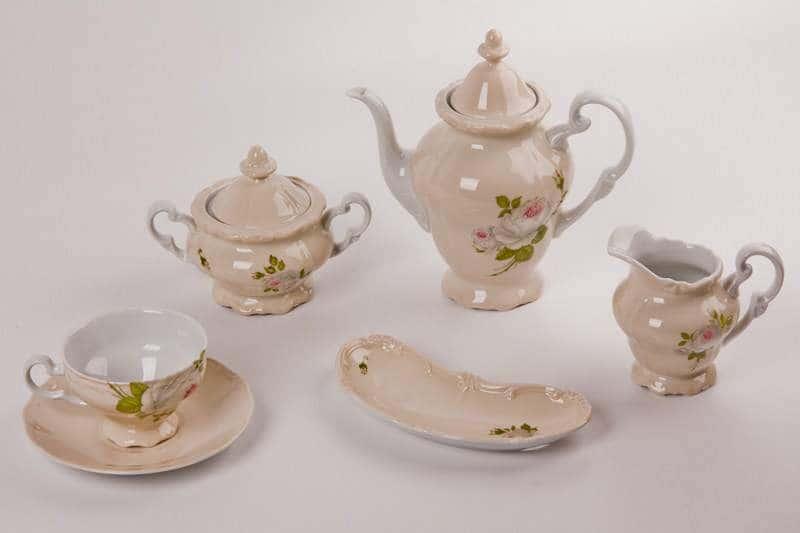 Алвин бежевый Чайный сервиз Weimar Porcellan 16 предметов