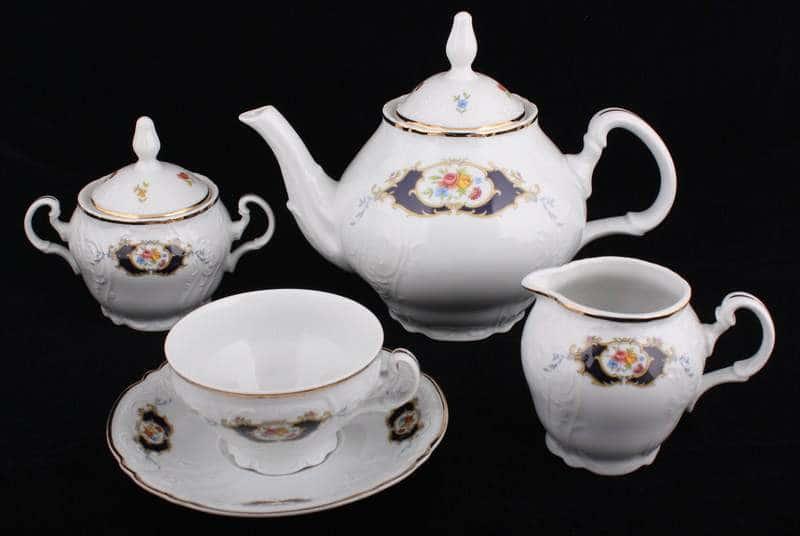 Бернадот Синий глаз Чайный сервиз Thun 15 предметов