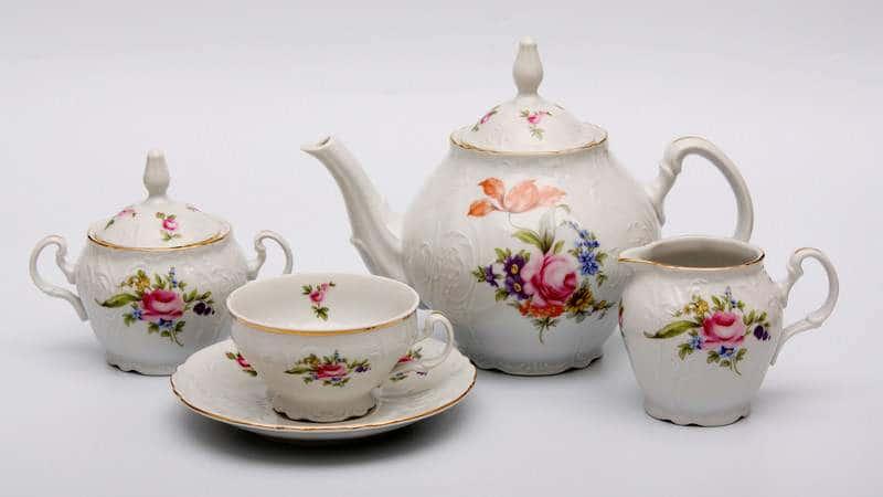 Бернадот Полевой цветок Чайный сервиз Thun 15 предметов