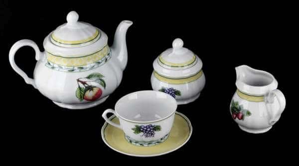 Роза Чайный сервиз Thun на 6 персон 15 предметов