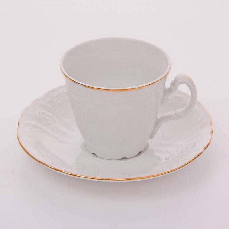 Бернадот белый Набор для чая на 6 персон 12 предметов высокие