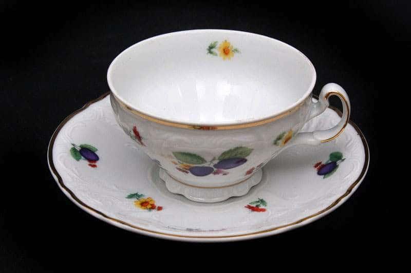 Бернадот Слива Набор для чая на 6 персон 12 предметов