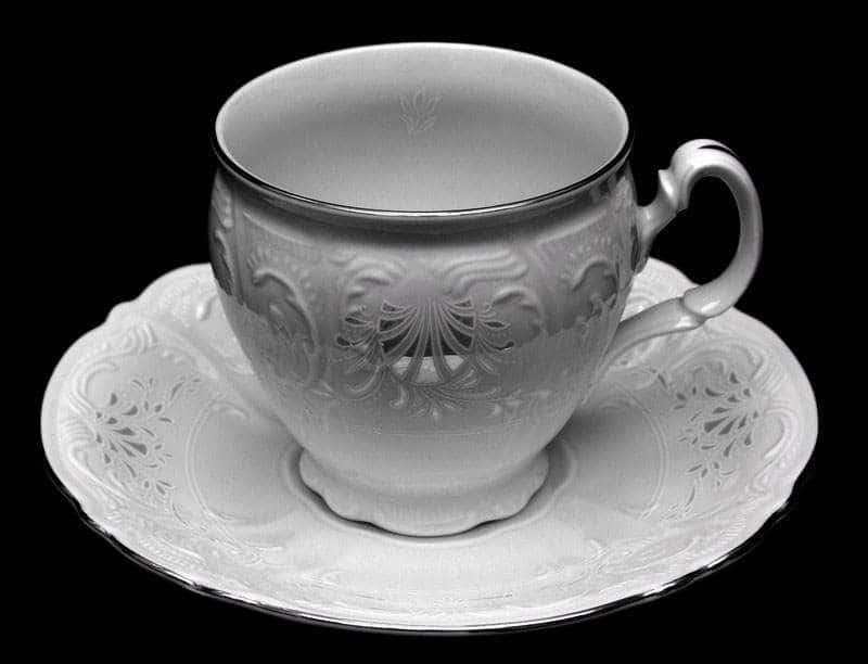 Бернадот Платина Набор для чая на 6 персон 12 предметов