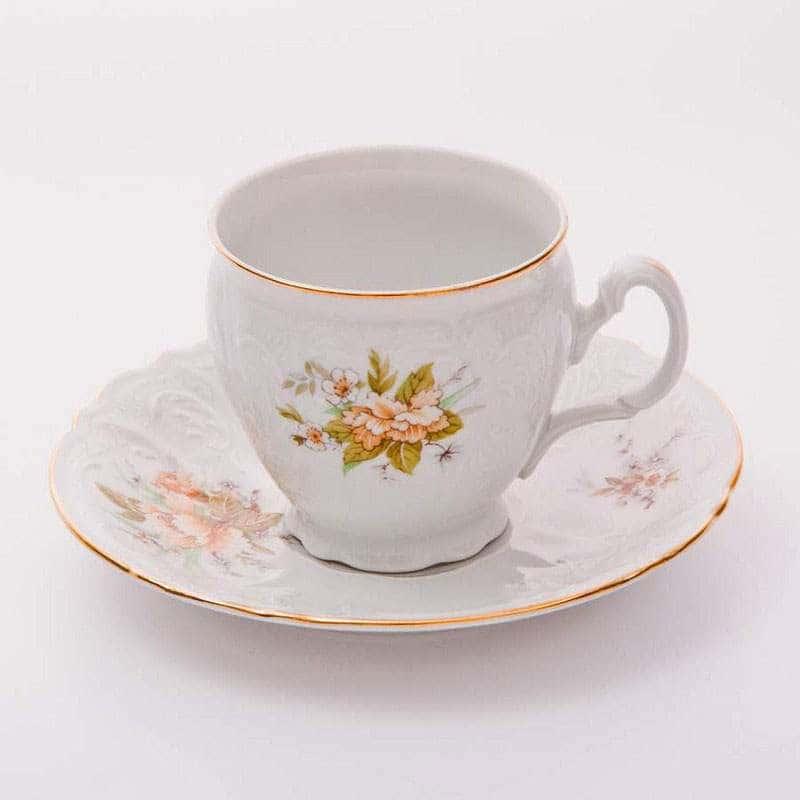 Бернадот Дикий лопух 23011 Чайные чашки с блюдцами высокие на 6 персон 12 предметов