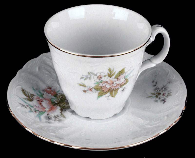 Бернадот Дикий лопух Чайные чашки с блюдцами высокие на 6 персон