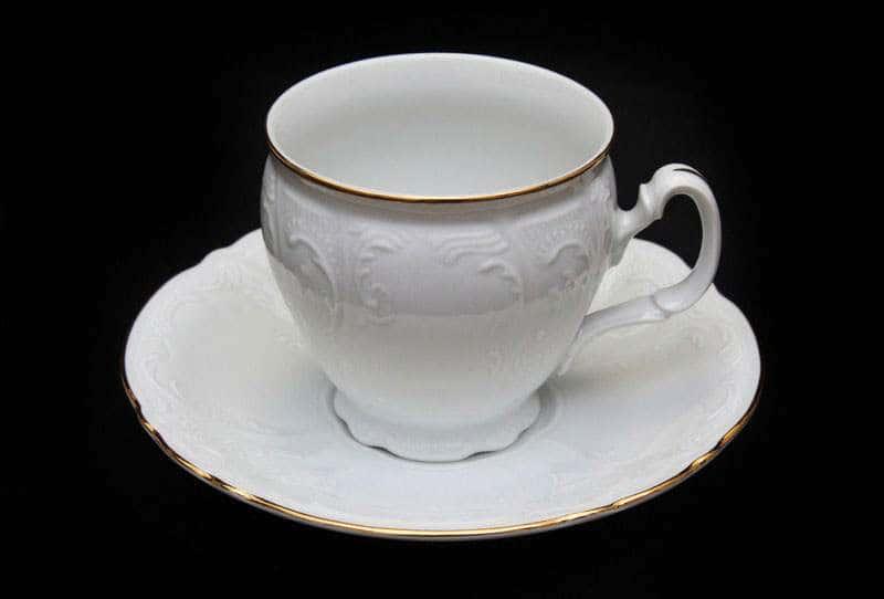 Набор для чая Бернадот белый на 6 персон 12 предметов высокие
