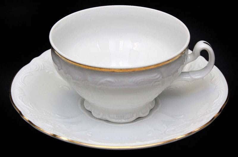 Бернадот белый Набор для чая на 6 персон 12 предметов низкие