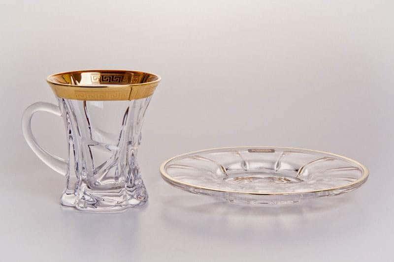 Ахмади Набор чайный Кристалайт 375479 на 6 персон 12 предметов