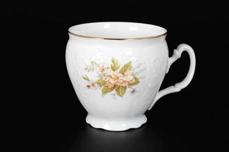 Бернадотт Зеленый цветок Набор чайных чашек бочка 240 мл (6 шт)