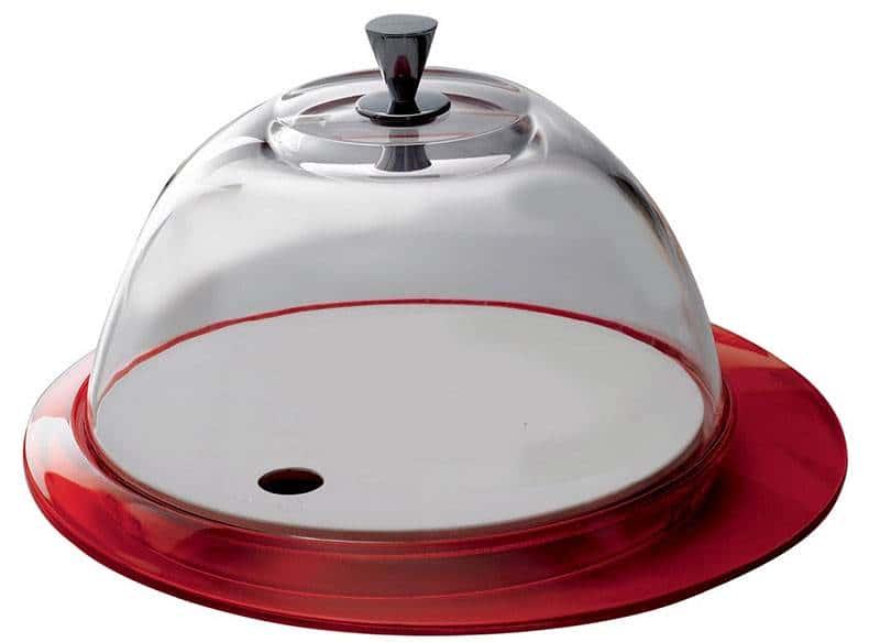 Бугатти Гламур красный Блюдо  для торта с крышкой 30 см