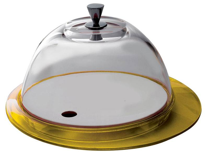 Бугатти Гламур желтый Блюдо  для торта с крышкой 30 см