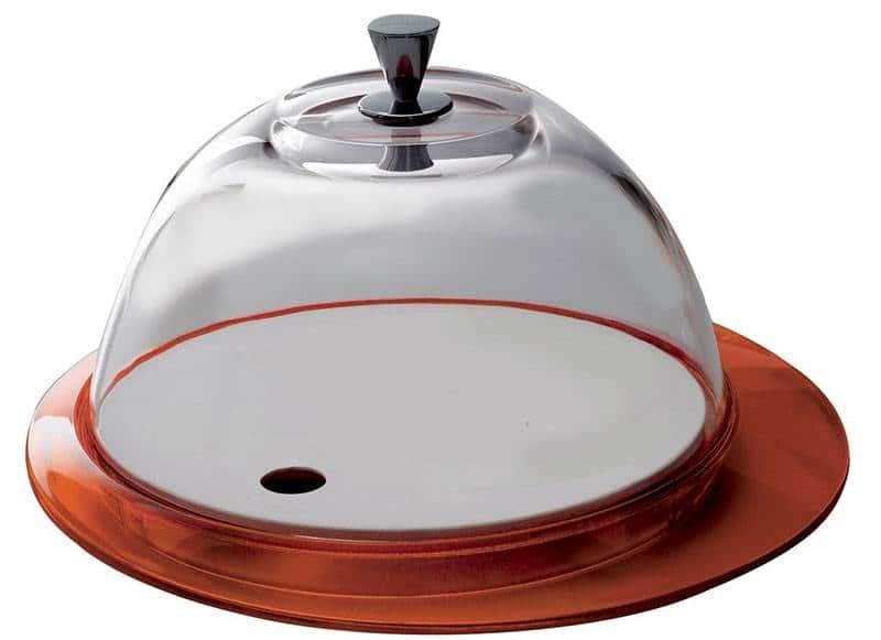 Бугатти Гламур оранжевый Блюдо  для торта с крышкой 30 см