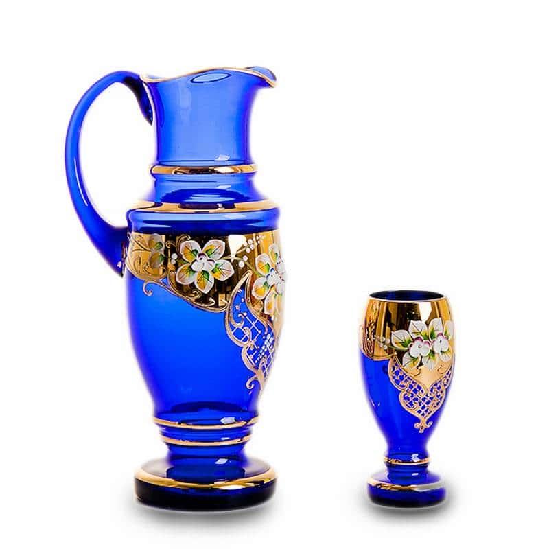 Арабский Лепка синяя Набор для воды Bohemia