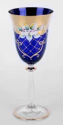 Набор бокалов для вина Лепка синяя 250 мл