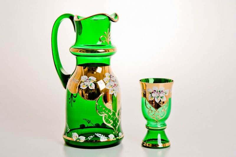 Арабский, Лепка зеленая Набор для воды  Bohemia