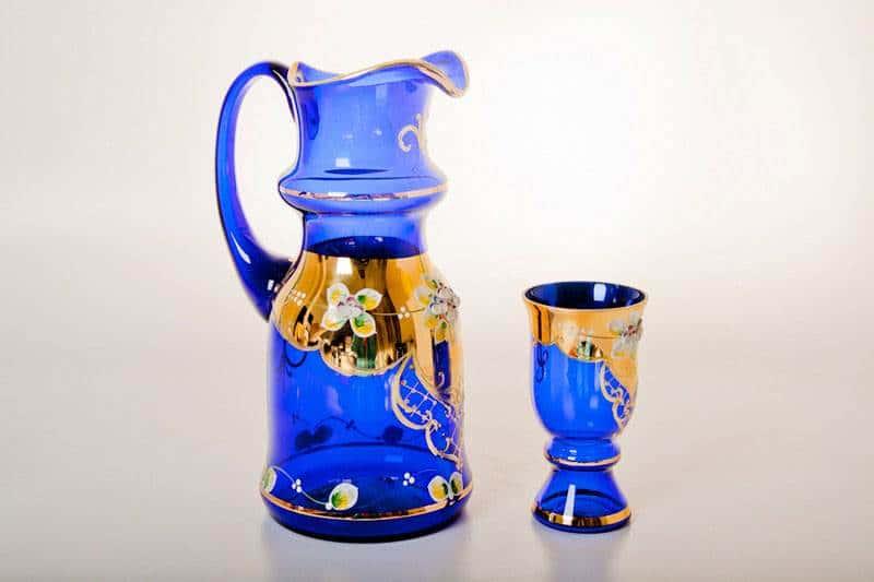 Королевский, Лепка синяя Набор для воды Bohemia