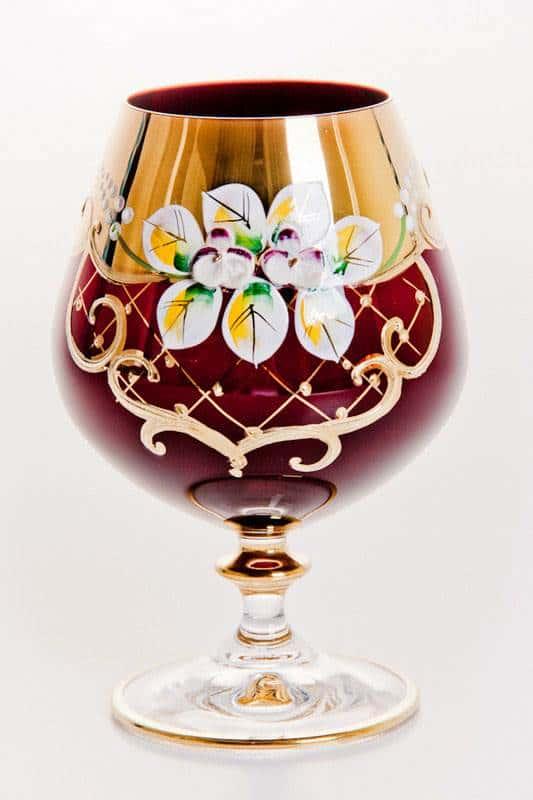 Набор бокалов для бренди Лепка красная 400 мл