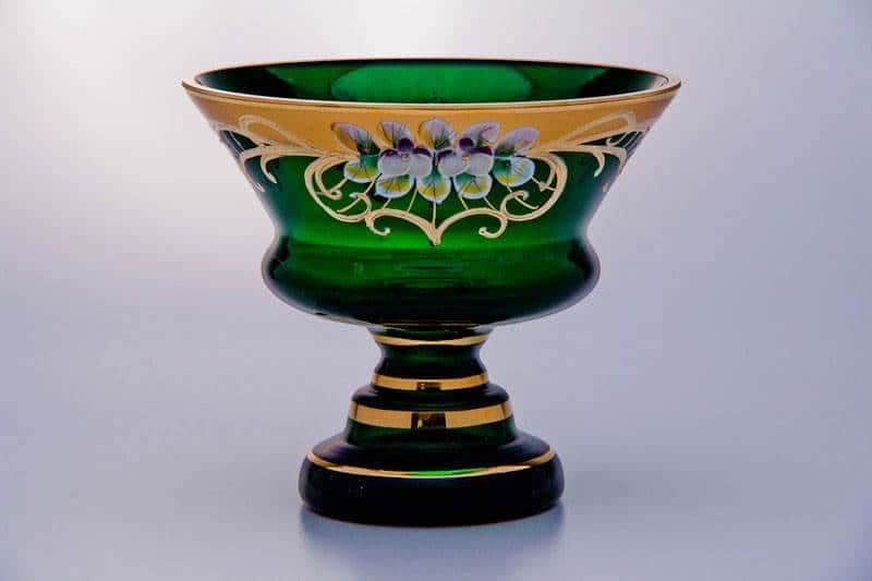 Варенница, ваза для варенья 15см Лепка зеленая