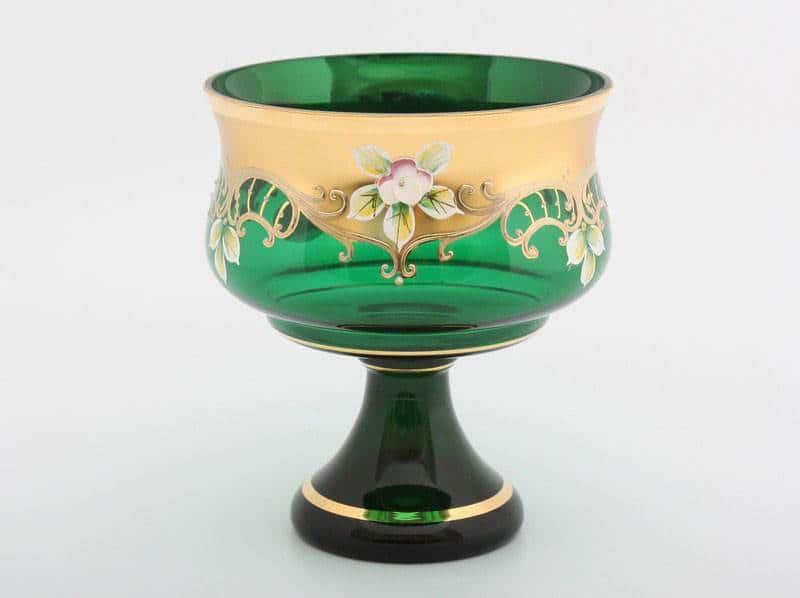 Варенница ваза для варенья Лепка зеленая Potochka