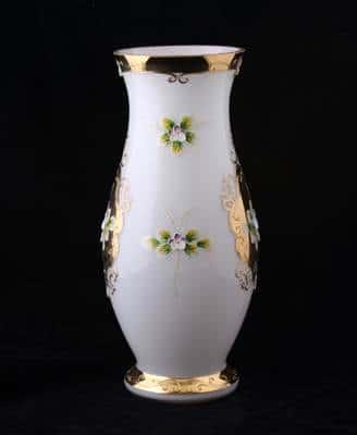 Цветочница Лепка белая 40 см