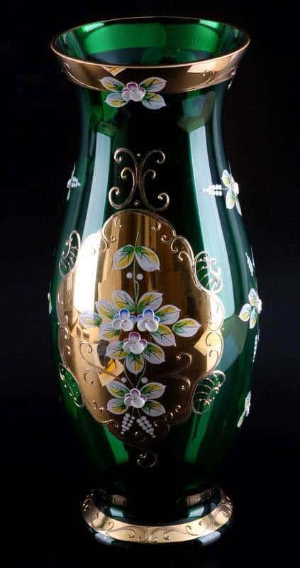 Ваза для цветов Лепка зеленая 40 см