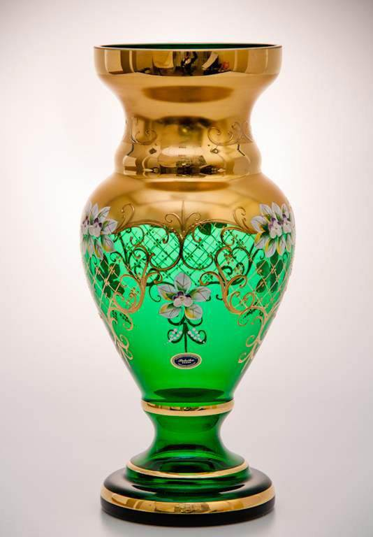 Ваза для цветов 35 см Лепка зеленая