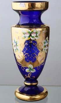 Ваза для цветов Кубок Лепка синяя 50 см