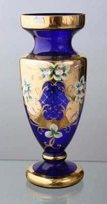 Ваза для цветов Кубок Лепка синяя 70 см