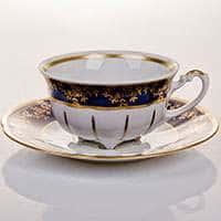 Мария 202 - Кобальт Набор для чая (чашка 200мл+блюдце) на 6 персон