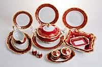 Ювел красный Сервиз столовый Weimar на 6 персон 30 предметов