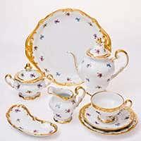 Мейсенский цветок Чайный сервиз Weimar Porcellan 23 предмета